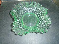More details for lovely green depression glass dish with fluted edges-no damage