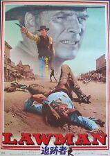 LAWMAN Japanese B2 movie poster BURT LANCASTER WESTERN 1971 NM