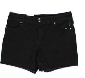Style&Co Frayed-Hem Denim Shorts (Black Rinse, 14)