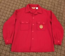 Classic Boy Scouts of America red wool coat gently used, size large, with patch