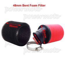 48mm Bent Neck Foam Air Filter Cleaner Fit Moped Scooter ATV Quad Pit Dirt Bike