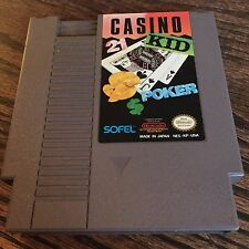 Casino Kid Poker Original Nintendo NES Game Cart PC5