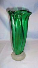 "Vintage/Retro Japanese Studio Glass 8.75"" Vase - Unusual Design"