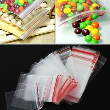 100PCS 4x6cm Jewelry Ziplock Zip Zipped Lock Reclosable Plastic Poly Clear Bags