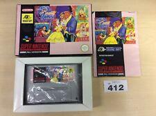 Disney La Bella Y La Bestia-SNES Super Nintendo En Caja/COMPLETO PAL