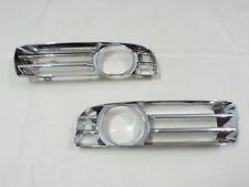 """2005 -2010 Chrysler 300 """"CHROME"""" Front Bumper Fog Light Driving Lamp Trim Cover"""
