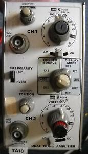 Tektronix 7A18 Dual Trace Amplifier 70MHz