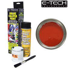 RED E-Tech Brake Caliper Paint Kit Also For Drums Car ETECH Engine Bay