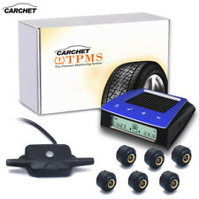 CARCHET Solar Car TPMS Tire Pressure Monitoring System + 6 Sensor LCD Display