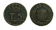 pci3248) Napoli Regno  Ferdinando IV - 5 Tornesi 1797 senza P