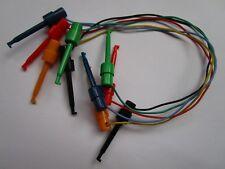 5 pcs Grabber Test Probe Single Hook Clip Lead Cable 5 colors 30cm large-sized
