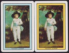 2 Single Swap/Playing Cards NAMED VISCOUNT ALTHORP Sir Thomas Gainsborough ART