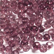 Perles de Rocailles en Verre Transparent 4mm (6/0) Améthyste 20g env. 250 pcs