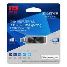 NEW SEALED EAGET I66 128GB OTG USB MEMORY STICK WITH LIGHTNING (IPHONE, IPAD)
