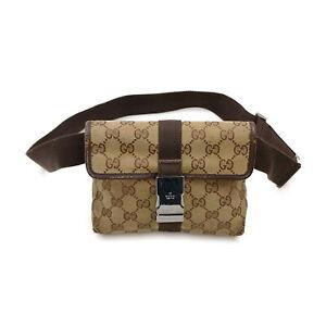 Gucci Waist Pouch Bag  Light Brown Canvas 2203330