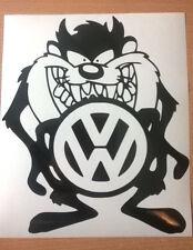taz monster vw golf polo beetle r line vinyl car sticker rear window bonnet side