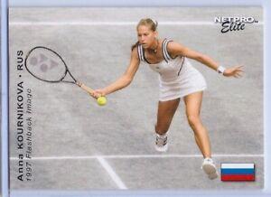 "Anna Kournikova 2003 "" 1ère Ever Imprimé "" Netpro Elite Flashback Carte Rookie"