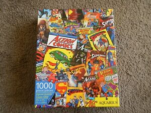 Aquarius- DC Comics Superman Retro Collage (1000 Pieces Jigsaw Puzzle)