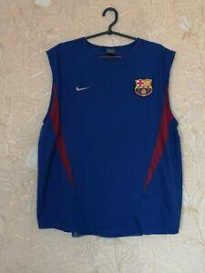 Barcelona 2000's mens training football shirt soccer jersey Nike size L Large