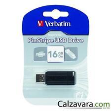 VERBATIM Pen Drive USB 2.0 Chiavetta Pinstripe - 16Gb