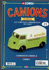 FASCICULE ALTAYA CORGI CAMIONS D'ANTAN  N°25  CAMIONNETTE CITROEN H CITROEN