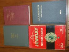 4 books Antique Jewelry & Precious Stones Diamonds Dictionary of Gems & Gemology