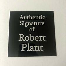 Robert Plant of Led Zeppelin - 105x105mm Engraved Plaque for Signed Memorabilia