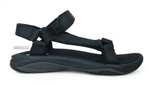 Teva Pretty Rugged Leather 3 Black Sandals Womens Size 9.5 *NIB*