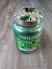 "Yankee Candle, 22 oz. ""Lucky Shamrock""  With Illuma Lid Brand New"