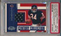 2007 Donruss Threads Walter Payton Century Collection Jersey Card PSA 8 #131/200