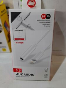 3.5mm Lightning to Earphone Jack Audio AUX Adapter Cable For iPhone 11 8 7 6 X