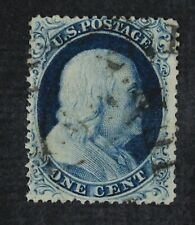 CKStamps: US Stamps Collection Scott#22 1c Franklin Used Spot Thin