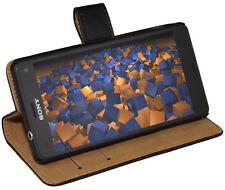 Mumbi Bookstyle für Sony Xperia XA Tasche Case hülle schwarz