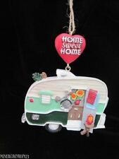 CLASSIC RETRO CAMPER~CAMPING~CAMP~VACATION~TRAVEL TRAILER ORNAMENT~RESIN~NWT