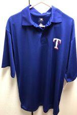 New Texas Rangers Big and Tall Polo Shirt XLT Blue