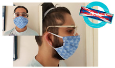 Handmade reversible fabric face masks 100% cotton Made in the UK Cycling mask