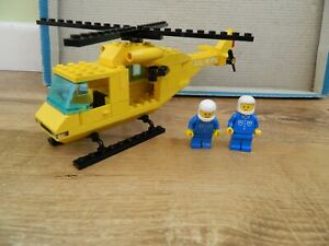 Lego Town/City – 6697 Rescue-I Helicopter – Vintage Set - 1985
