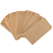 100PCS Kraft Paper Seed bags Carry Shopping Bags FoodGrocery Packaging 6*10 M2C7