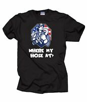 Gift For Firefighter T-Shirt Funny Profession Tee Shirt Where My Hose At T-Shirt