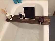 Bagno in legno dipinto BAR Caddy-Vassoio da bagno-Bath Mate verniciato di Nero Ebano Effetto