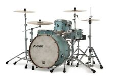 Sonor SQ1 3pc Drum Set 20/12/14 Cruiser Blue w/ Walnut Hoops - Video Demo