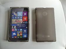 Custodia cover guscio silicone nera trasparente per Microsoft (nokia) lumia 435