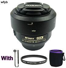 DX AF-S Nikkor 35mm 1:1.8G for Nikon F Bayonet Lens Black with Hood uv gift
