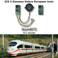 ICE 3 (Siemens Velaro) European  or RZD Sapsan  train SoundGT2.1 DCC decoder