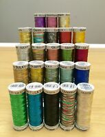 Gutermann Sulky Metallic Embroidery Thread 200m Spool. Super Cheap Price!