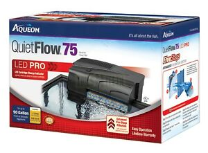 Aqueon QuietFlow 75 Aquarium Filter - 5-stage Filtration for Up to 90 Gallons