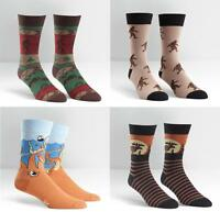 Sock It To Me E8 Men's Fun Crew Socks - Moose, Big Foot, Sasquatch Designs