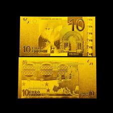 10 € EUROPEAN TEN EUROS 2001 BANKNOTE GOLD 24K