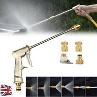 High Pressure Water Spray Gun Lawn Car Wash Metal Garden Hose Pipe + Jet Nozzles