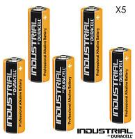 5 X DURACELL INDUSTRIAL AA BATTERIES ALKALINE 1.5V LR6 MN1500 PROCELL BATTERY LR